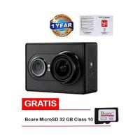 harga Xiaomi Yi Action Cam-16 MP-International-Hitam+ MicroSD Bcare 32 GB Tokopedia.com