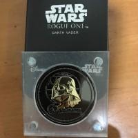 Koin Star Wars Darth Vader Black & Gold 24 Karat
