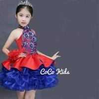 Dress Coco Tutu Red Blue|dress Pesta|bajufashion
