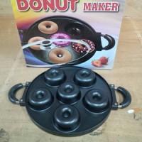 Cetakan Donat Maker Teflon Praktis Anti Lengket Tutup Kaca Hasil Bagus