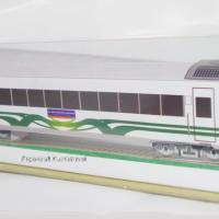 Papercraft Gerbong Kereta Api Argo Bromo Anggrek Go Green
