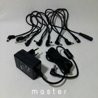 Adaptor Efek Gitar / Power Supply + Daisy Chan 8 way
