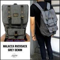 Tas Ransel Backpack Rucksack Grey Abu Abu Pria Wanita Malacca Lomberg