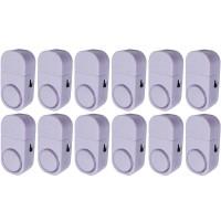 Paket 12 Buah Alarm Pintu Anti Maling Kecil - Putih (Door Entry Alarm)