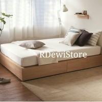 Tempat tidur, ranjang, divan, dipan lesehan laci 2 minimalis kayu jati