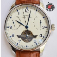 JAM TANGAN PARNIS AUTOMATIC POWER RESERVE OPEN HEART - NEW-47