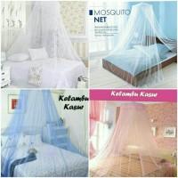 Kelambu Gantung Kasur Anti Nyamuk / Klambu Tirai Bulat Tempat Tidur