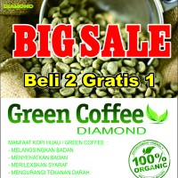 Jual green coffee bean supplement / Kopi hijau sehat untuk diet Murah