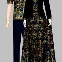 Couple batik sarimbit kebaya pesta baju pasangam seragaman 406