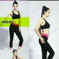 Celana Sport Legging 3/4 Yoga Gym Fitness Zumba Olahraga Wanita