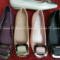 Jual Jelly Shoes Premium Gold Square - Flatshoes - Sepatu karet - Slip on Murah