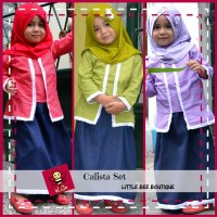 harga Kebaya Kutubaru Baju Muslim Kebaya Anak   Calista Set - Cashback Tokopedia.com