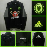 Sweater Training CHELSEA Adidas Hitam 16/17