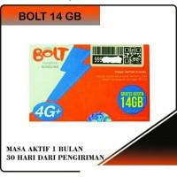 Perdana Bolt 14 GB 1 Tahun - Bolt Super 4G LTE 14gb Aktif!! - ade 8 GB