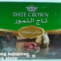 Kurma Arab Date Crown Khalas 1kg Stok Baru Exp 2018