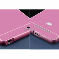 Aluminium Bumper Case with Arcylic Back for Xiaomi Mi4i / Mi4c - Pink