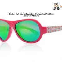 Kacamata Pelindung Mata Anak -shadez -designer Leaf Print Pink Junior