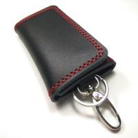 Jual dompet stnk gantungan kunci mobil motor kulit sapi asli benang merah Murah