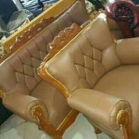Jual sofa minimalis kayu ,sudut L 321+meja termurah terbaru mewah Murah