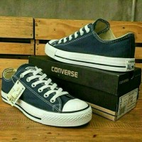 Sepatu Converse All Star Blue Navy Unisex Casual Pria dan Wanita