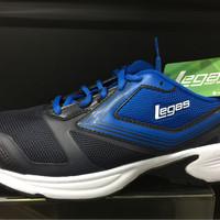 Sepatu running legas league original Nova LA M jogging Biru-navy