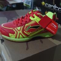 Sepatu Badminton / Bulutangkis Lining Jass Red/Yellow (New 2017)