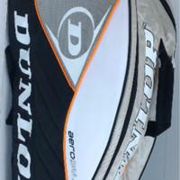 Tas Badminton / Bulutangkis Dunlop Black/White (New 2017)
