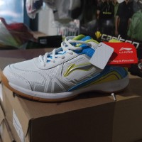 Sepatu Badminton / Bulutangkis Lining Jass White/Blue (New 2017)