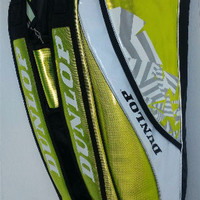 Tas Badminton / Bulutangkis Dunlop Hijau/White (New 2017)