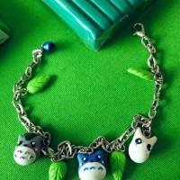 gelang korea totoro beads bracelet import handmade clay dior ori lucu