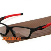 frame kacamata oakley crosslink sweep black red