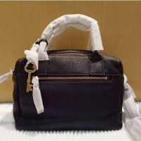 tas hand bag fossil erin satchel black authentic 100% original