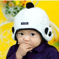 Topi Kupluk Panda Putih Lembut 6 Bulan -3 Tahun Cute