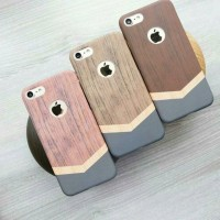 Jual Wooden wood case / casing hp iphone samsung 4/4s 5/5s 6/6s 7/7+ Murah