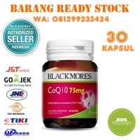 Blackmores CoQ10 75mg BPOM Kalbe - 30 Kapsul