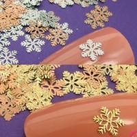 Snowflake Metal Slices for Nail Art