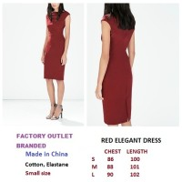 RED ELEGANT DRESS. Made in China