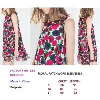FLORAL PATCHWORK SLEEVELESS DRESS. Made in China - FO BRANDED