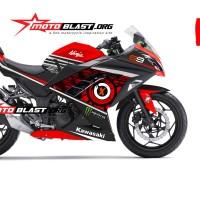 Decal stiker Kawasaki Ninja 250R Red sunmoon JL99