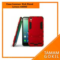 Case Ironman Lenovo A6000 / A6000 Plus Series With Kick Stand