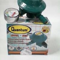 QUANTUM Regulator Gas + Meteran QRL-03 meter