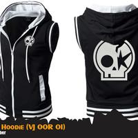 One Ok Rock - Rompi Jaket Anime Band Black Vest Hoodie (VJ OOR 01)