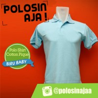 928971bb178 Polo Shirt Polos Warna Biru Baby Ukuran XXL - (Bahan Cotton Pique)