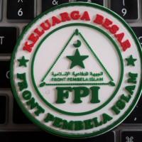 patch, badger, emblem rubber, fpi, front pembela islam, 7cm