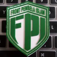patch, badger, emblem rubber, fpi, front pembela islam, 6,5x5