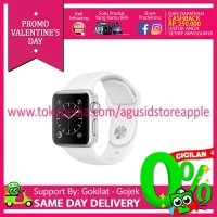 Apple Watch Series 2 - 38mm Aluminium Sport White MNNW2 Resmi Bnib