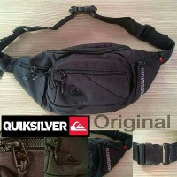 Waist Bag Quiksilver Icon Metal Logo Full Black Original