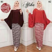 Set Afika Blouse Hijab Setelan Modern Blus Muslimah Jumbo XL A156