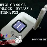 MODEM WIFI MIFI 4G LTE XL GO UNLOCK 90GB HUAWEI E5577 E5577C + ANTENA