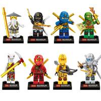 Yingwei Action Figures 8 Pcs Set Ninja Ninjago Skylor Kai Zane Lloyd W